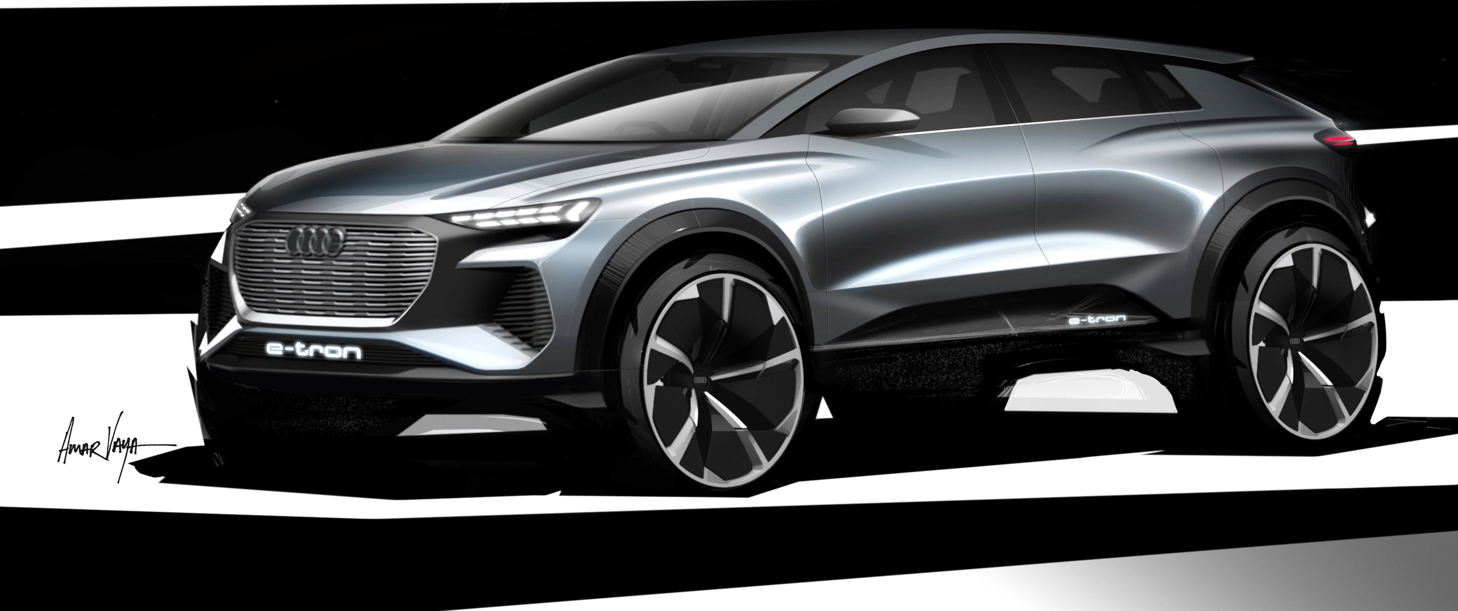 Audi kommer med konsept Q4 e-tron i Genève