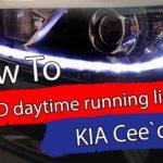 Fikse LED kjørelysene på KIA Cee`d mkII