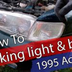1995 Honda Accord Parking light bulb replacement