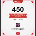 450 følgere på YouTube i dag