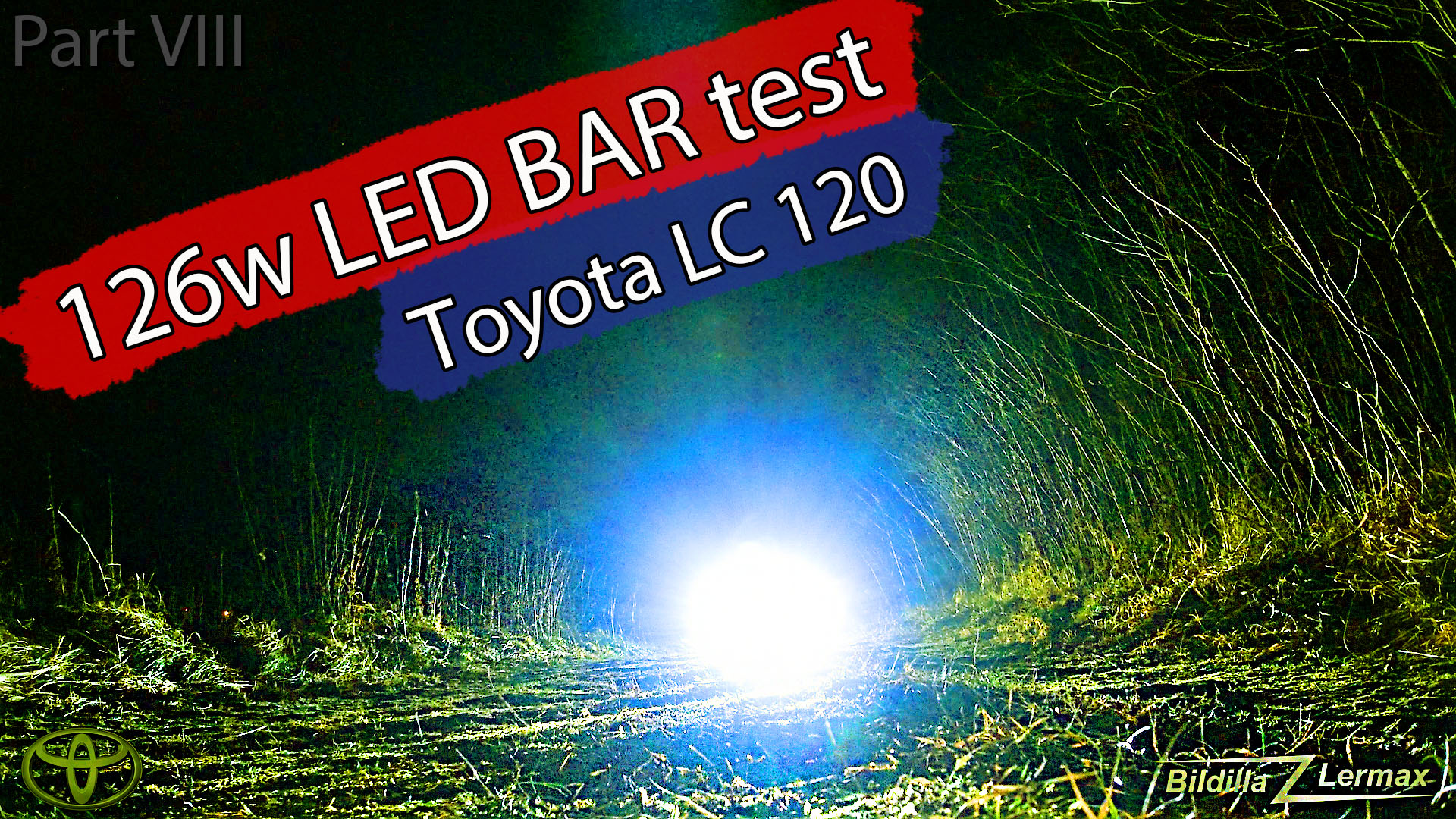Test av 126 W LED BAR