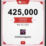 425.000 video visninger