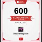 600 følgere på Youtube kanalen!