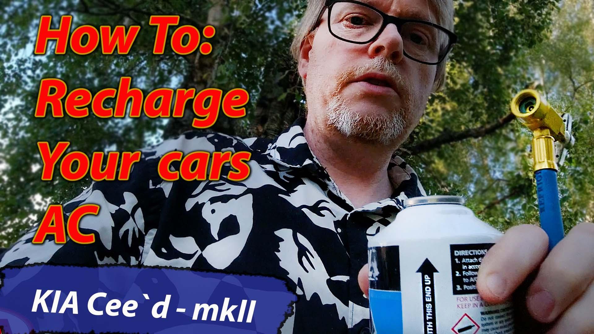 Fyll opp AC systemet på bil