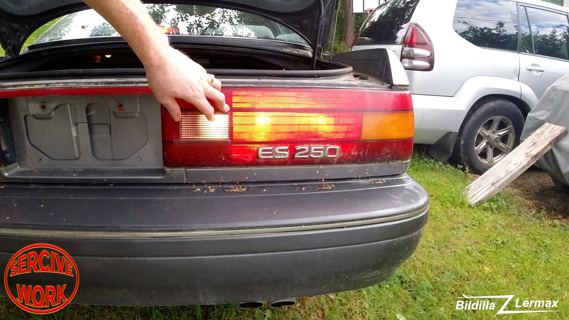 1991 Lexus ES 250 – baklys fiks