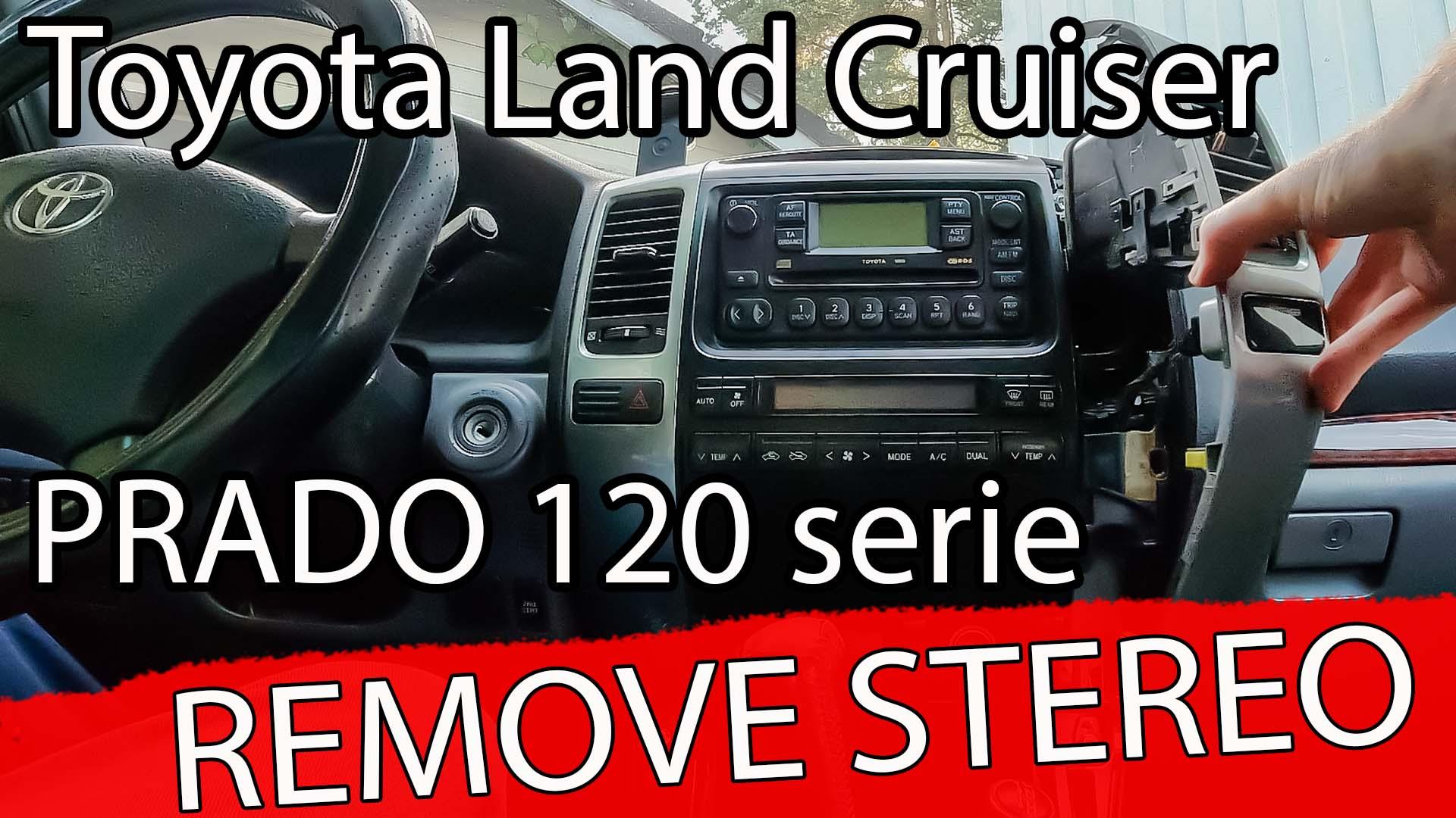 Hvordan ta ut stereoen, på Toyota Land Cruiser 120 serien.