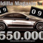 YouTube kanalen har nå passert 550.000 video visninger.