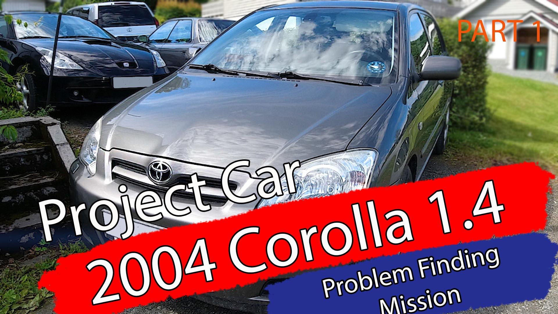 New Project car: 2004 Toyota Corolla