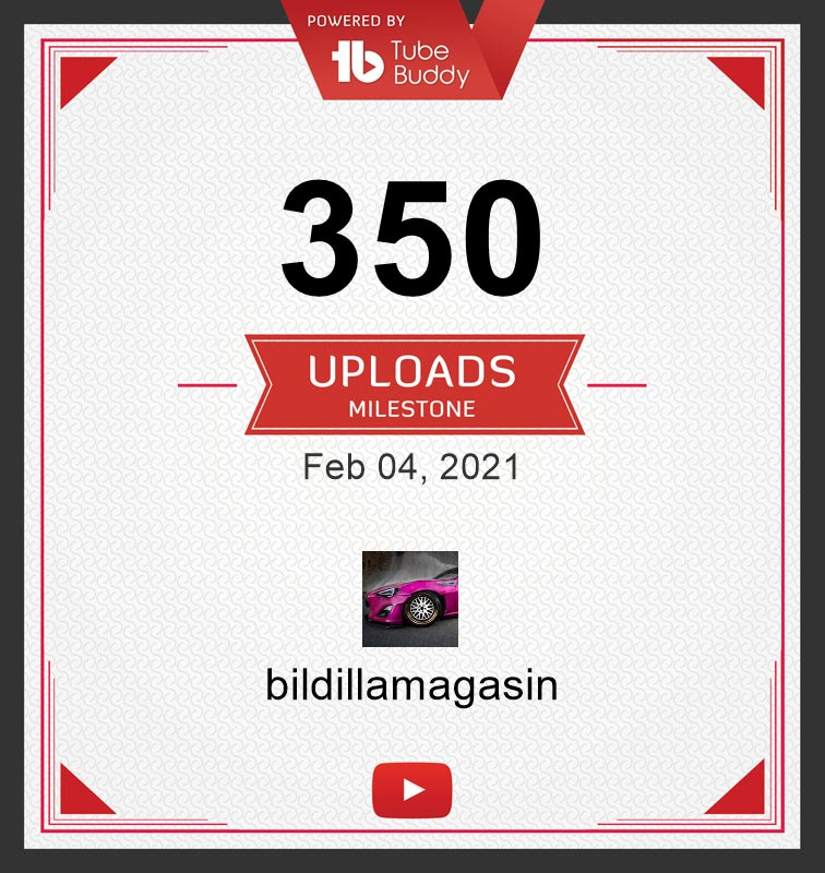 350 videoer på kanalen