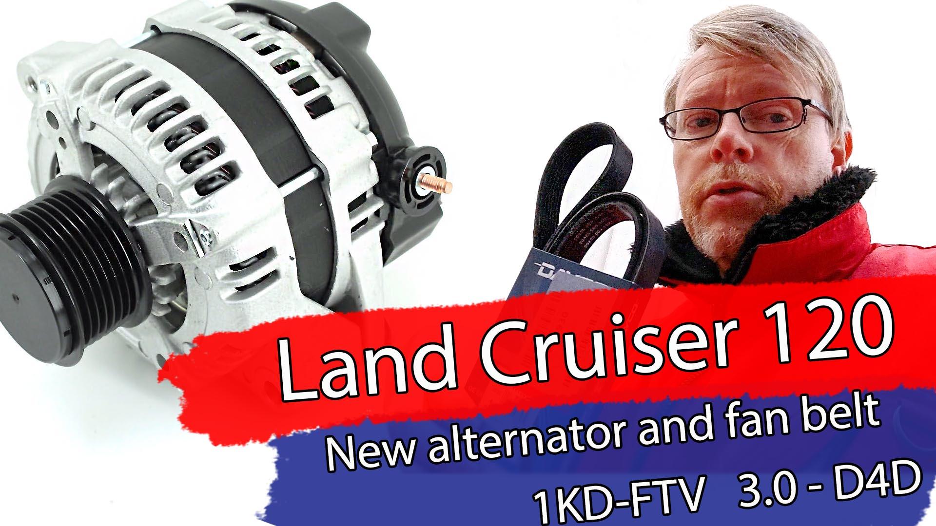 Hvordan montere ny Dynamo, Land Cruicer 120