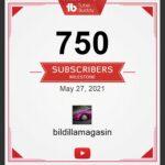 750 følgere på kanalen…
