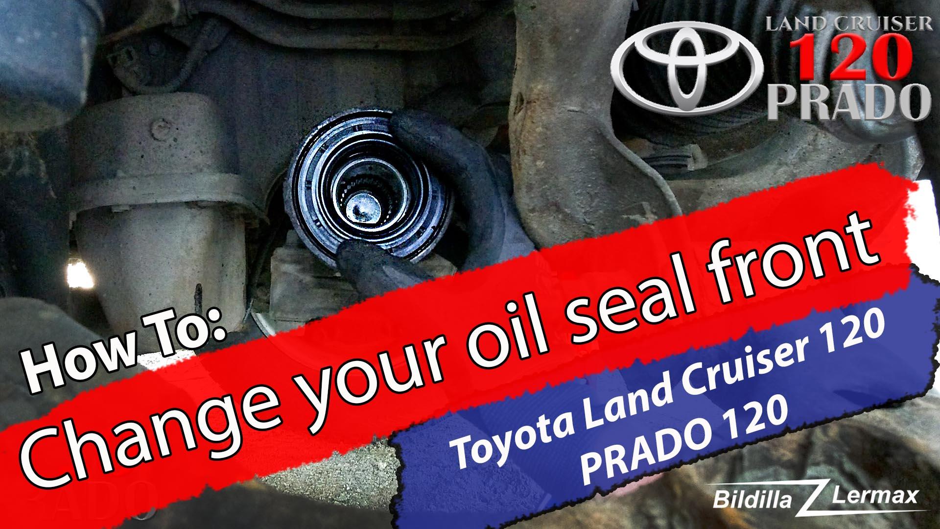 DIY / How To: bytte av simmerring / Oil Seal, Land Cruiser 120 serie