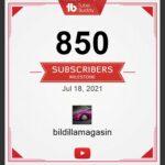 Nå over 850 følgere på Youtube kanalen!