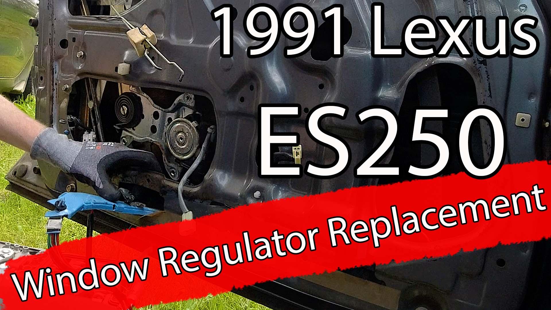 Ny el motor til vindu på 1991 Lexus ES250
